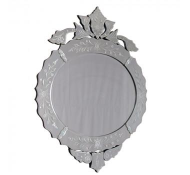 Espelho Veneziano Redondo com Corte Bisotê