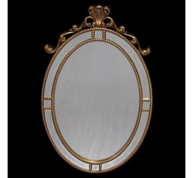Espelho Clássico Oval Folheado a Ouro