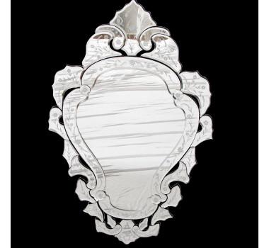 Espelho Veneziano Clássico Luis XV com Corte Bisotê