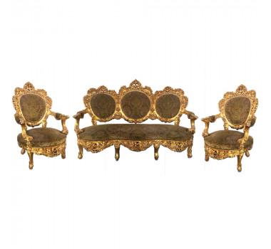 jogo-de-sofa-classico-medalhao-luis-xv-marrom-2-poltronas-130x96x190cm