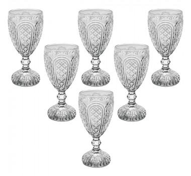 Jogo de Taças de Vinho Cristal Transparente