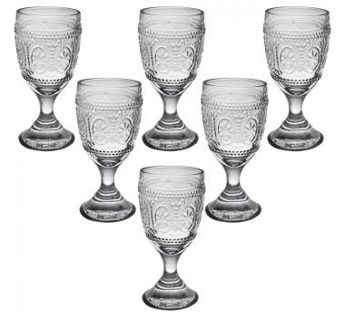 Jogo de Taças de Vinho em Cristal