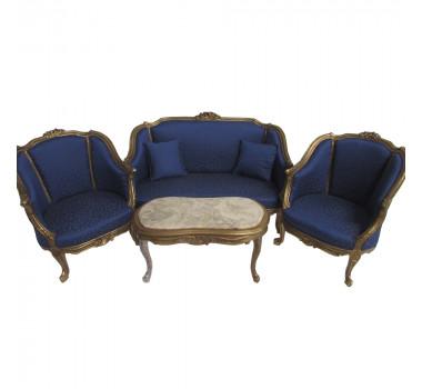 kit-sofa-classico-luis-xv-dourado-com-estofado-azul-relevo-com-2-poltronas-e-mesa-de-centro
