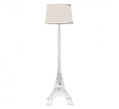 Abajur de Chão Moderno Torre Eiffel Branco 156 cm X 45 cm