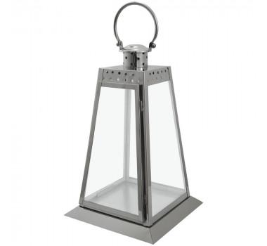 Lanterna Decorativo De Metal e Vidro Alice