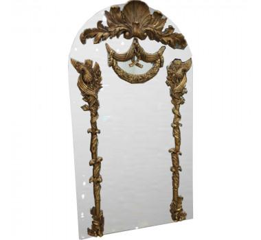 Espelho com Apliques Dourados em Resina - 145x3x80cm