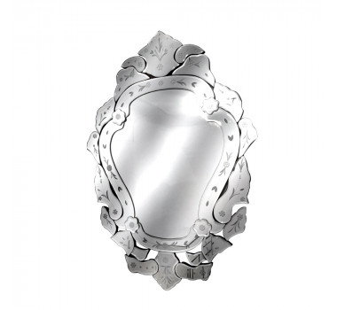 Espelho Veneziano Estilo Luis XV Com Corte Bisotê