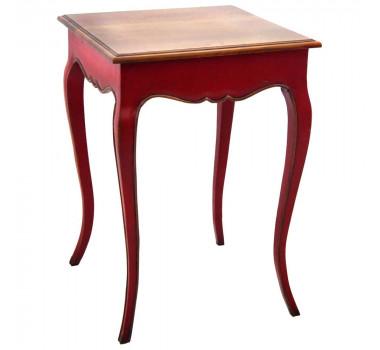 mesa-lateral-em-madeira-macica-estilo-provencal-vermelha-72x51x51cm