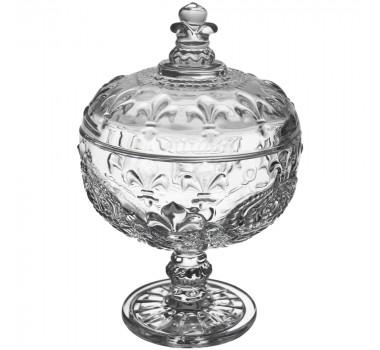 Potiche De Cristal Bohemia Lapidado18x12