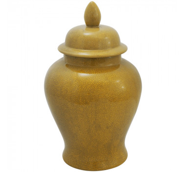 Potiche em Porcelana Amarela 49x24cm