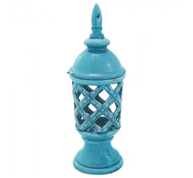 Potiche em Cerâmica Azul Julian