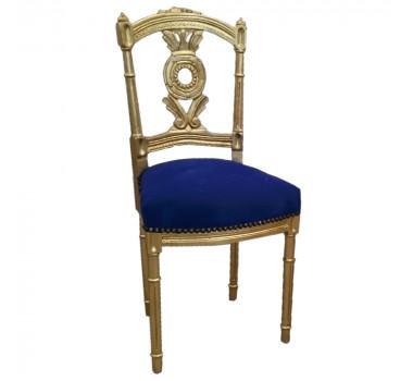 cadeira-folheada-a-ouro-com-estofado-azul-83x43x39cm
