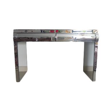 Aparador Moderno Espelhado Bisotê Linha Glass Rounded Com 2 Gaveta
