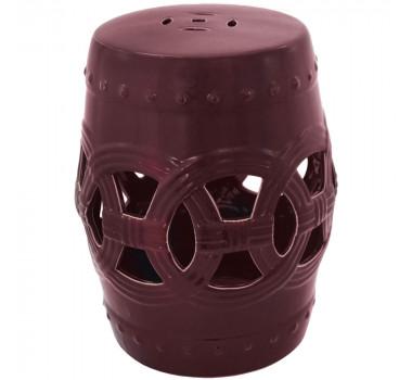 Garden Seat em Cerâmica Vazado Vinho