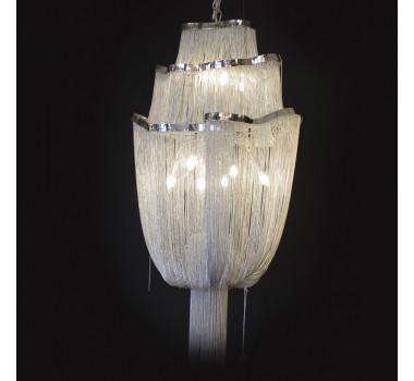 Lustre Clássico em Cristal 135 x 65 cm