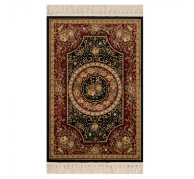tapete-persa-tabriz-preto-com-vermelho-com-bordas-em-bege-67x120cm