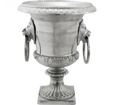 Vaso De Alumínio Grande com Alto Relevo Ivan