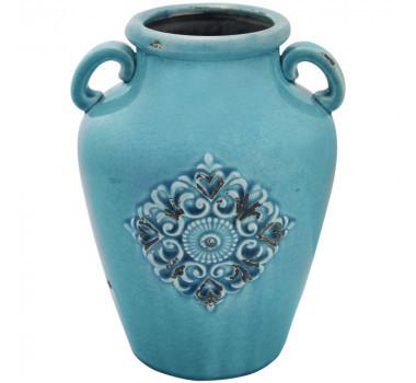 Vaso em Cerâmica Azul Jayden