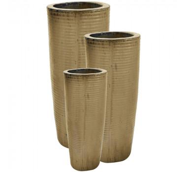 Vasos Vietnamitas Em Cerâmica Lírio Bege