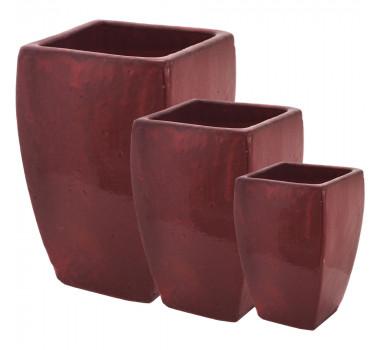 Vasos Vietnamitas Porcelana Vermelho Ficus