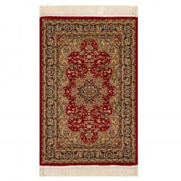 Tapete Persa Bege com Detalhes em Vermelho - 160x235cm