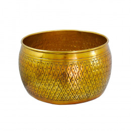 Bowl Decorativo em Alumínio - 26x48cm