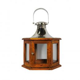 Lanterna em Metal - 53x42x37cm