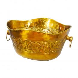 Vaso Decorativo Dourado em Metal - 31x45cm