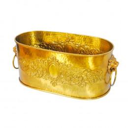 Vaso Dourado em Metal - 18x44x20cm