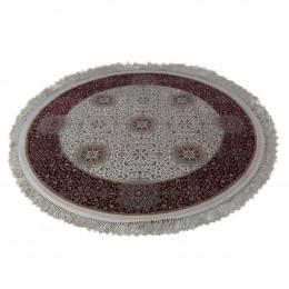 Tapete Redondo Persa com Bege e Vermelho - 250x250cm