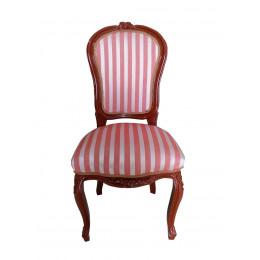 Cadeira em Madeira Estofado Listrado - 65X70cm