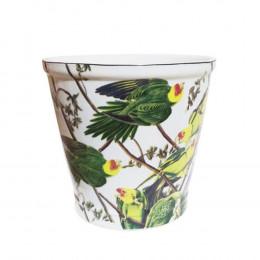Cachepot em Cerâmica Papagaio - 22x23cm