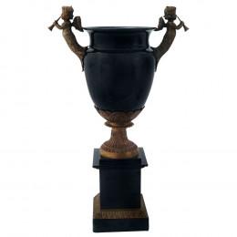 Vaso em Porcelana com Detalhes em Bronze - 67x41x22cm