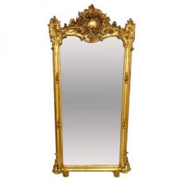 Espelho Clássico Folheado a Ouro de Chão - 174x76cm