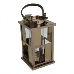 Lanterna Decorativa em Vidro e Alumínio 22 cm x 12 cm