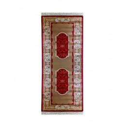 Passadeira Persa cor Creme com Vermelho - 80x300cm