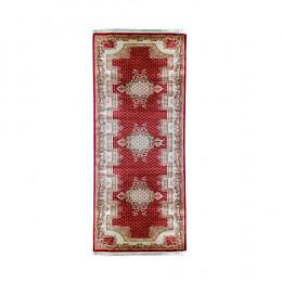 Passadeira Persa Vermelho com Detalhes Bege - 80x300cm
