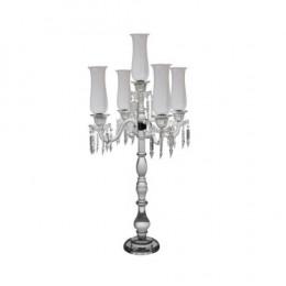 Candelabro em Cristal com 5 Velas - 100x50x50cm
