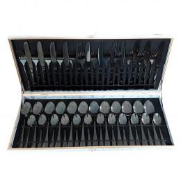 Faqueiro em Inox Cinza - 48 Peças