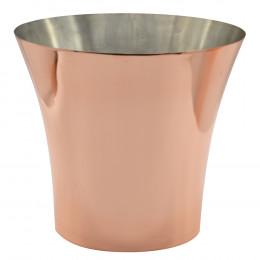 Champanheira em Aço Inox - 3,4x22,5x22cm