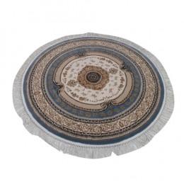 Tapete Persa Azul com Bege - 150x150cm