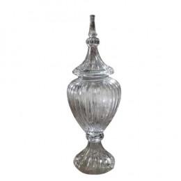 Potiche Decorativa em Cristal com Tampa Persian - 19,5x54cm