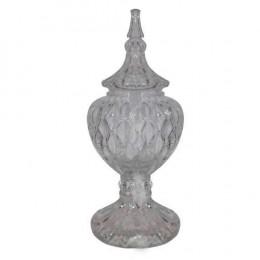 Potiche Decorativa em Cristal com Tampa - 19x55cm