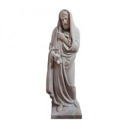 Estátua em Mármore Branco - 127x43cm