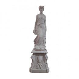 Estátua em Mármore Branco - 161x47cm