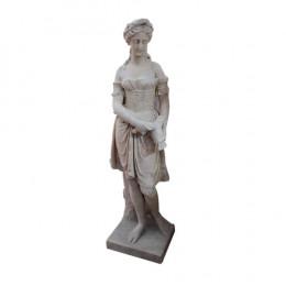 Estátua em Mármore Branco - 122x40cm