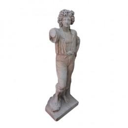 Estátua em Mármore Branco - 127x50cm