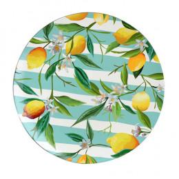 Sousplat Limão em Plástico - 33cm