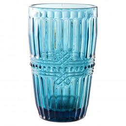 Jogo de 6 Copos Fratello em Cristal Azul - 355ml 13cm