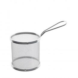 Mini Cesta Redonda para Alimentos em Aço Inox - 8,5x9cm